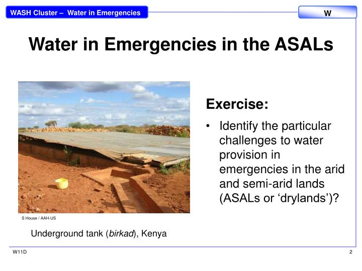 Water in Emergencies in the ASALs