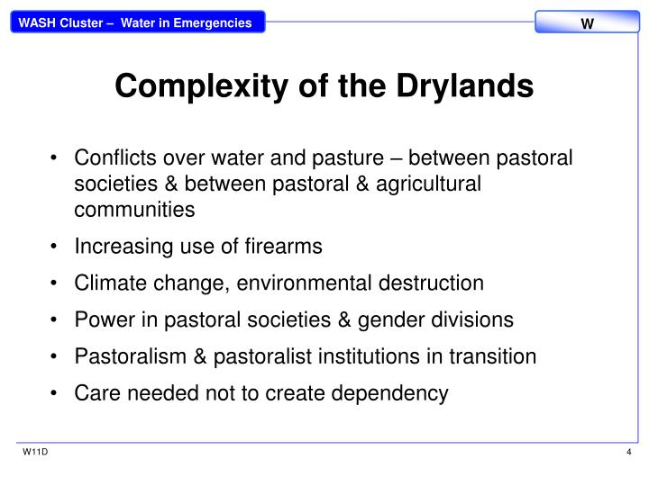 Complexity of the Drylands