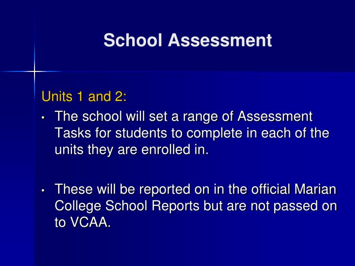 School Assessment