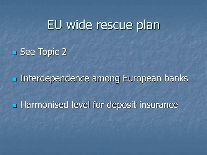 EU wide rescue plan