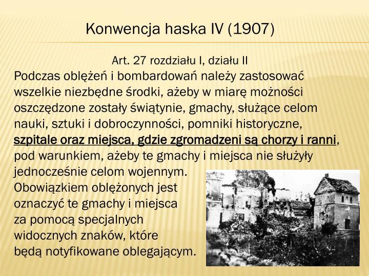 Konwencja haska IV (1907)