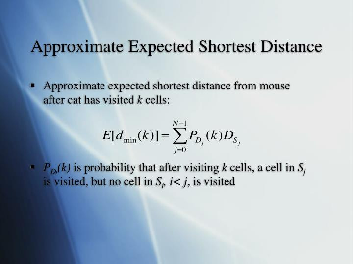 Approximate Expected Shortest Distance