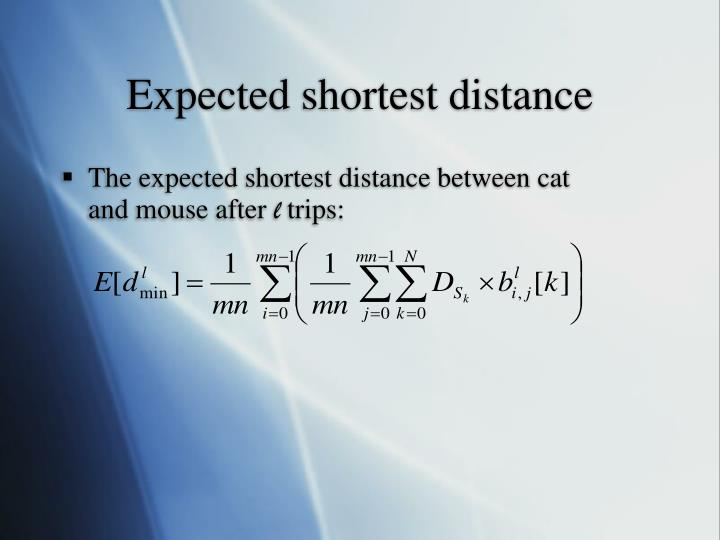 Expected shortest distance