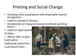printing and social change