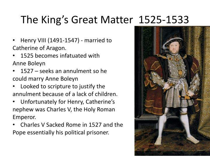 The King's Great Matter  1525-1533
