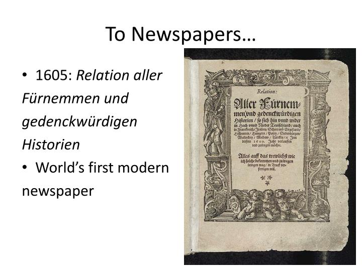 To Newspapers…