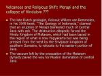 volcanoes and religious shift merapi and the collapse of hinduism