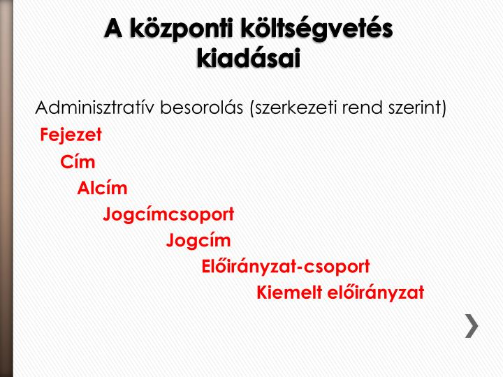 Adminisztratív besorolás (szerkezeti rend szerint)