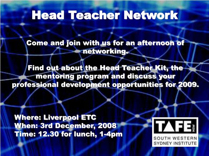 Head Teacher Network
