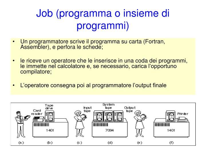 Job (programma o insieme di programmi)