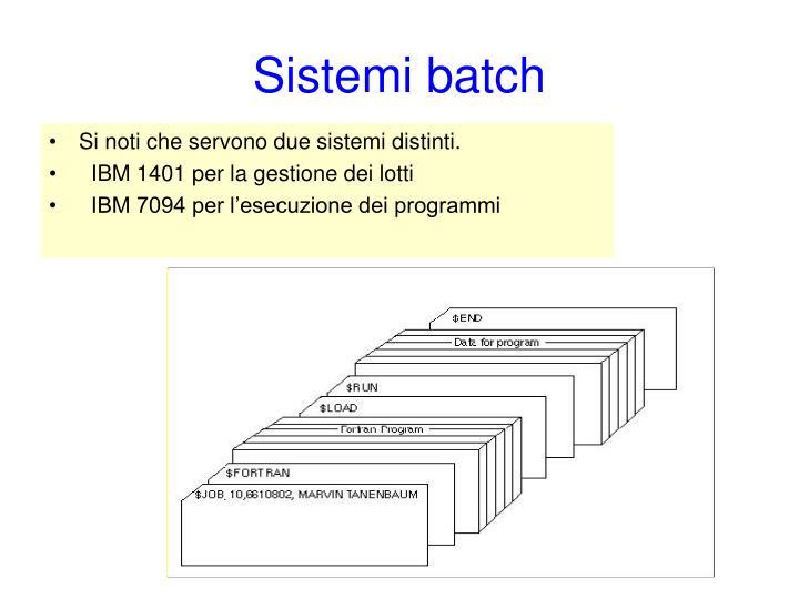 Sistemi batch