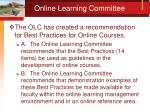 online learning committee