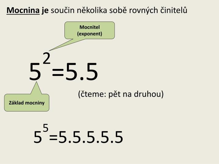 Mocnitel (exponent)