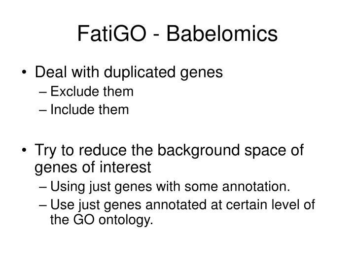 FatiGO - Babelomics