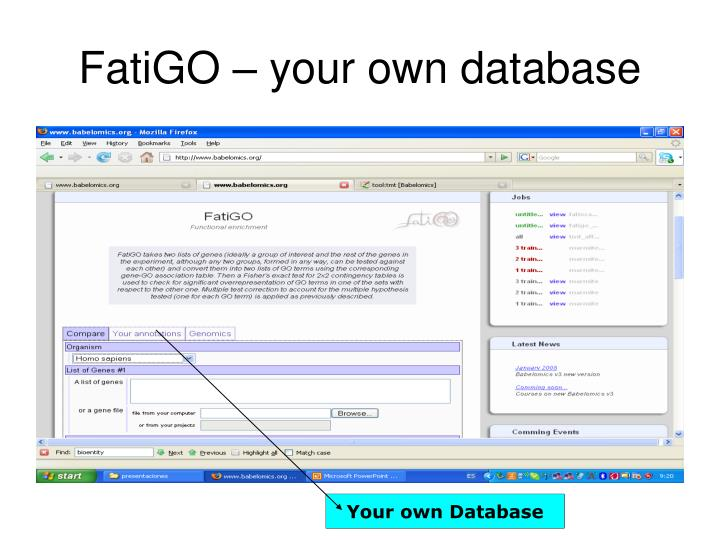 Your own Database