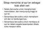 sikap mencintai al qur an sebagai kiab allah swt
