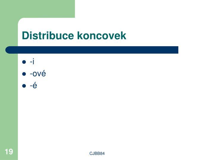 Distribuce koncovek
