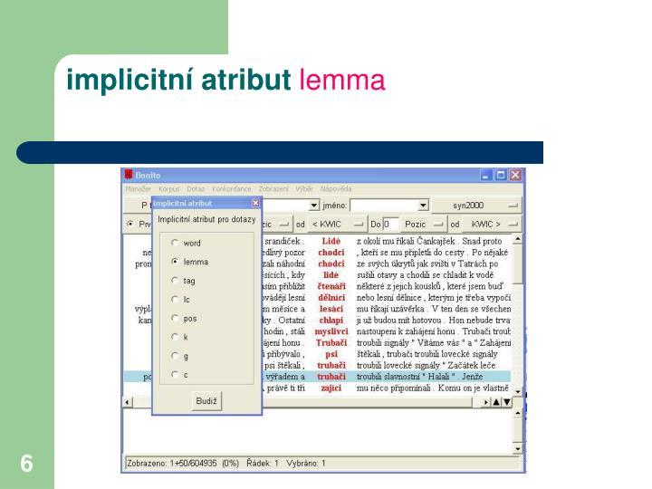 implicitní atribut