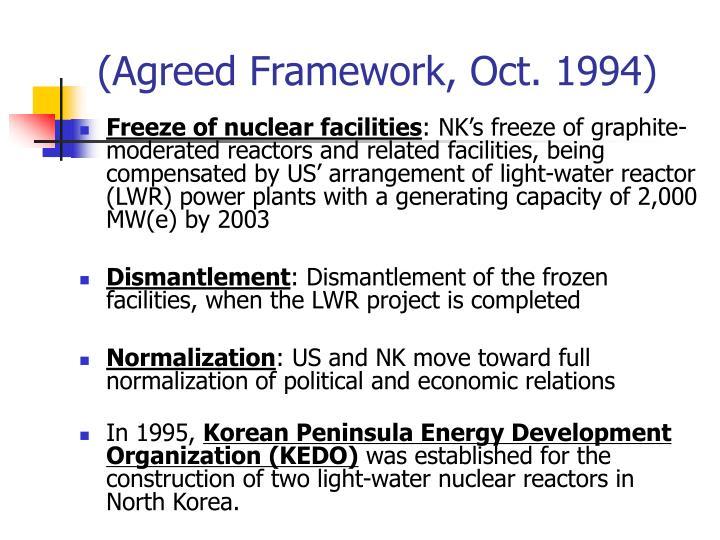 (Agreed Framework, Oct. 1994)