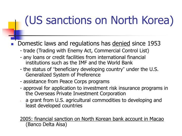 (US sanctions on North Korea)