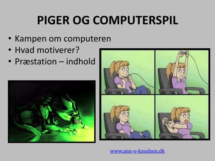 PIGER OG COMPUTERSPIL