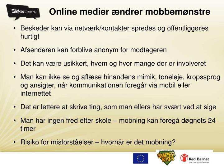 Online medier ændrer mobbemønstre
