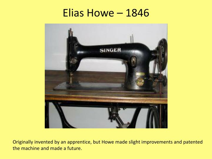 Elias Howe – 1846
