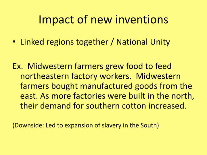 Impact of new inventions