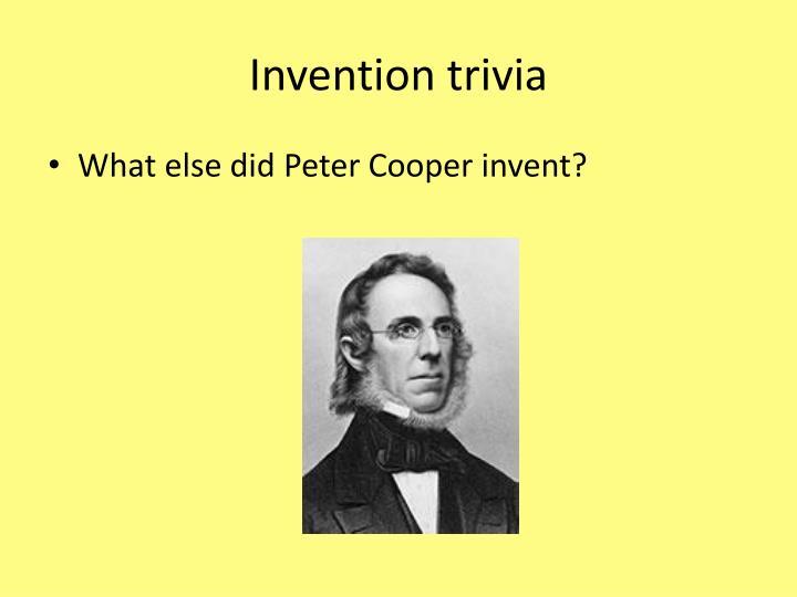 Invention trivia