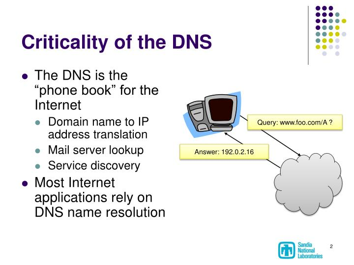 Criticality of the DNS