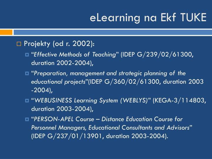 eLearning na Ekf TUKE