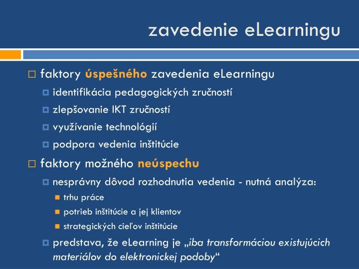 zavedenie eLearningu