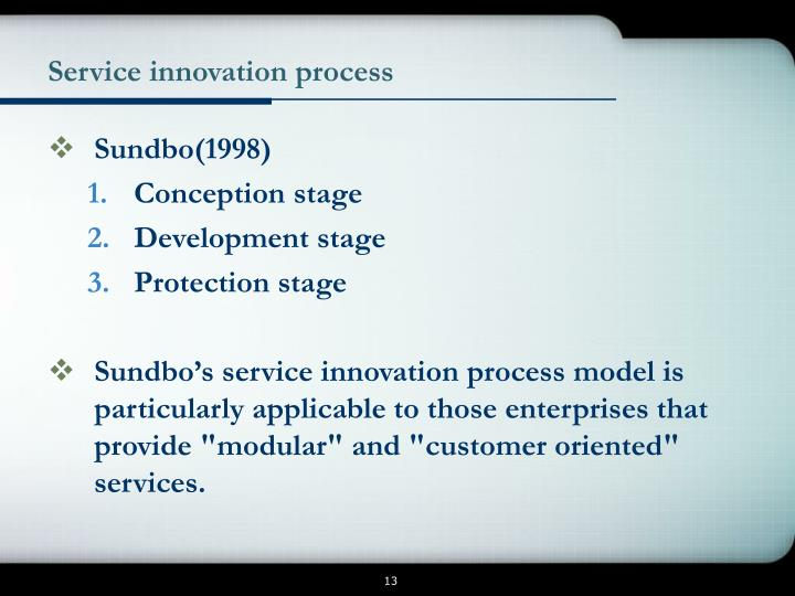 Service innovation process