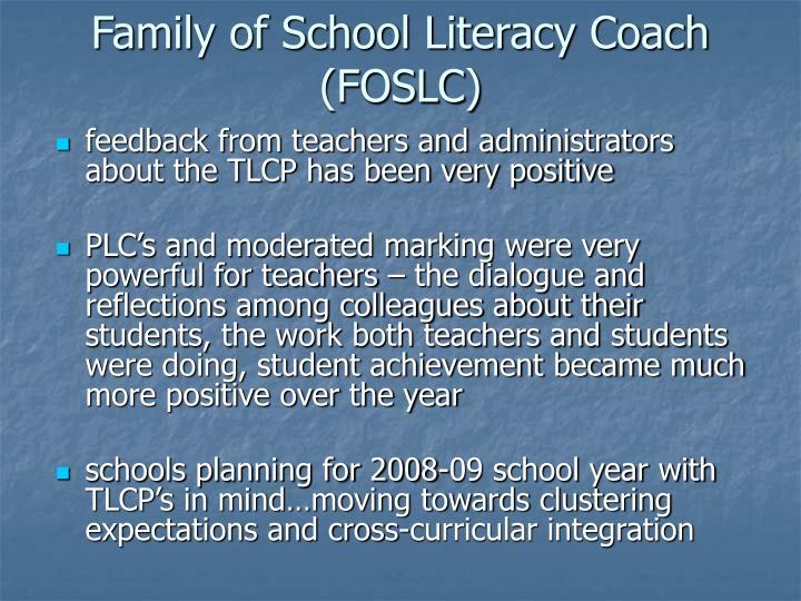 Family of School Literacy Coach (FOSLC)