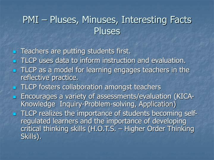 PMI – Pluses, Minuses, Interesting Facts