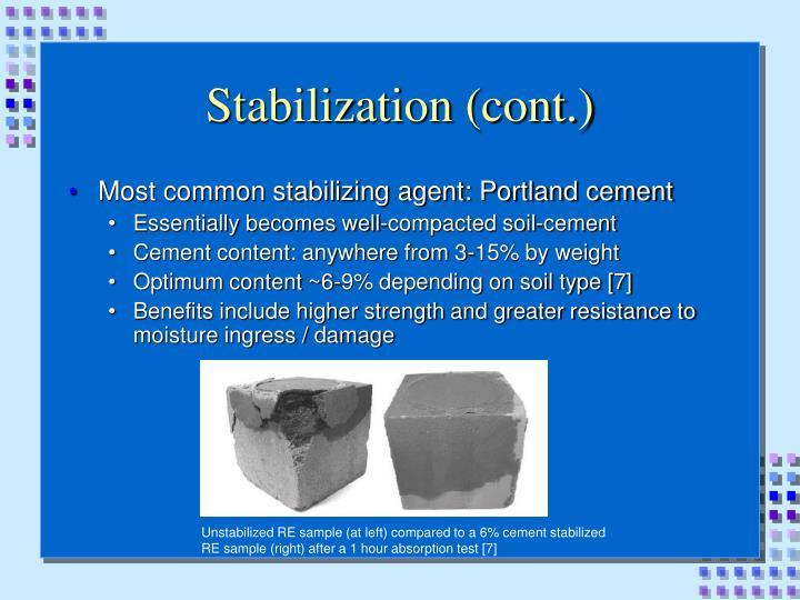 Stabilization (cont.)