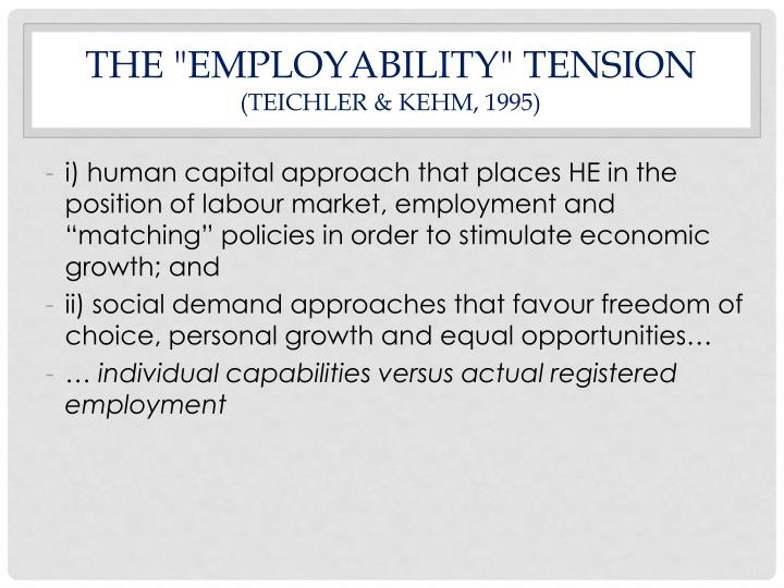 "THE ""EMPLOYABILITY"" TENSION"