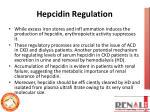 hepcidin regulation