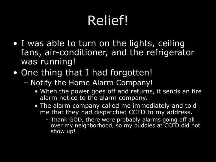 Relief!