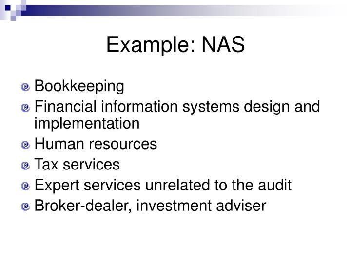 Example: NAS