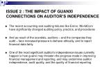 issue 2 the impact of guanxi connections on auditor s independence