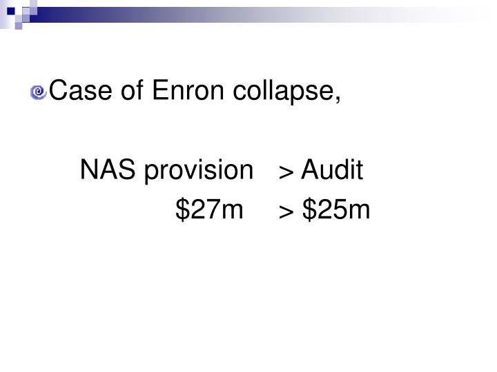 Case of Enron collapse,