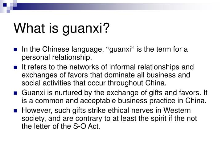 What is guanxi?