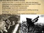 6 trench mortars artillery cannons