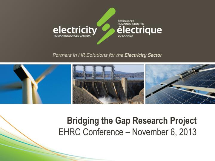 Bridging the Gap Research Project