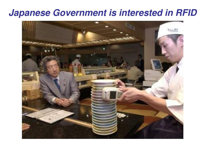 Japanese Government is interested in RFID