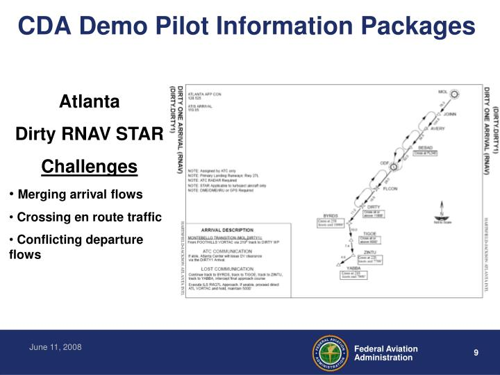 CDA Demo Pilot Information Packages