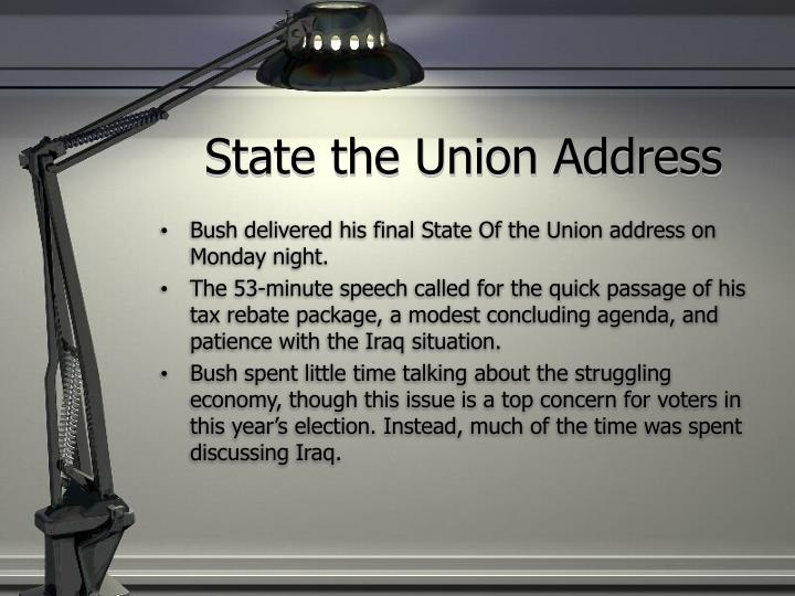 State the union address