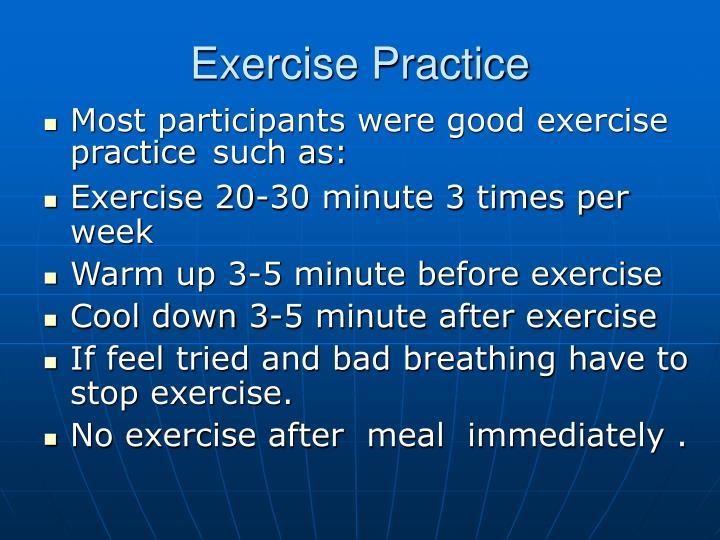 Exercise Practice