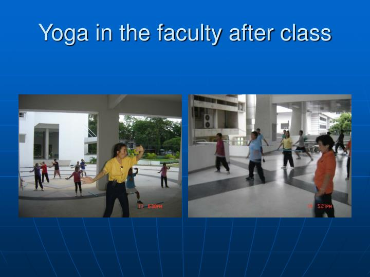 Yoga in the faculty after class